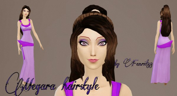 Fenrilsims: Megara hairstyle for Sims 4