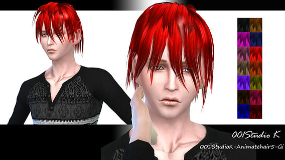 Studio K Creation: Animate hairstyle 5 for Sims 4