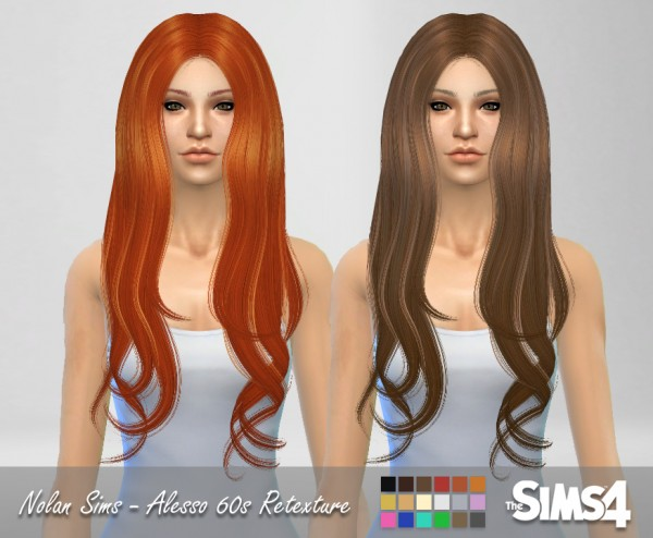 Nolan Sims: Alesso`s 60s hairstyle retextured for Sims 4