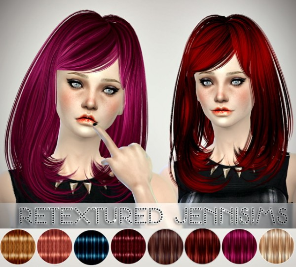 Jenni Sims: Butterflysims 058 hairstyle retextured for Sims 4