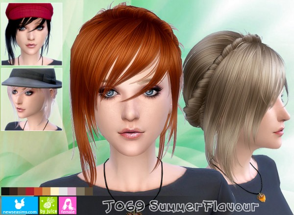 NewSea: J069 Summer flavour hairstyle for Sims 4