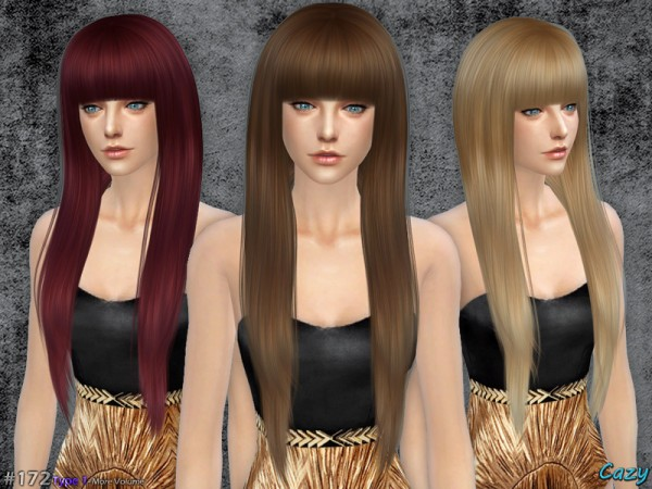 The Sims Resource: Izzy Hairstyle by Cazy for Sims 4
