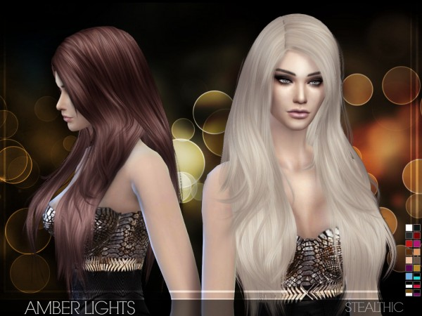 Stealthic: Beutiful hairstyle   Amber Lights for Sims 4