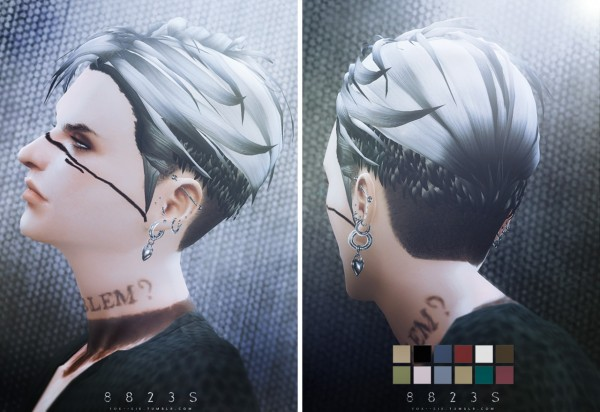 TOK SIK: 8823S hairstyle for him for Sims 4