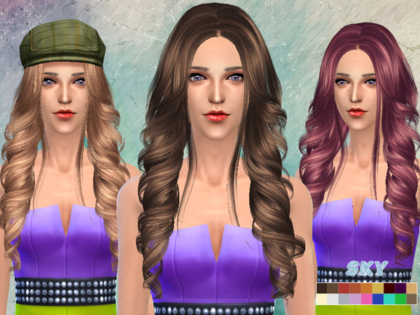The Sims Resource: Big waves 261 hairstyle by Skysims for Sims 4