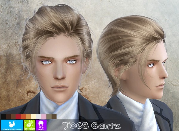 NewSea: J068 Gantz hairstyle for Sims 4