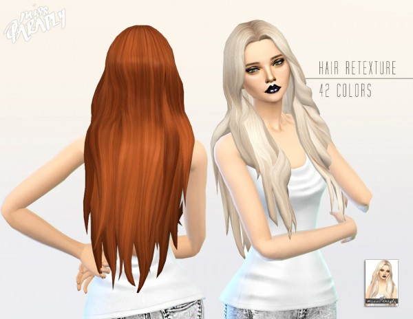 Miss Paraply: Kiara 24 Mysterious hairstyle retextured for Sims 4