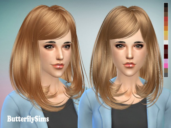 Butterflysims: Hairstyle 058 for Sims 4