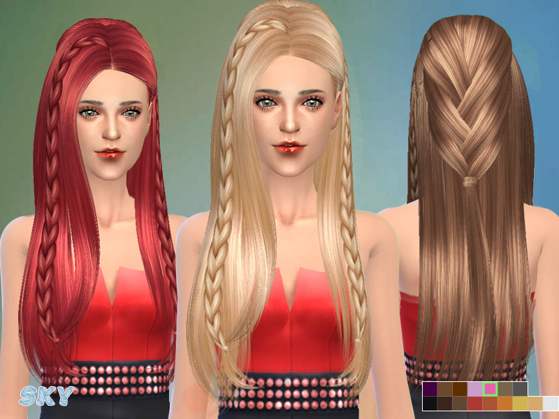 Sims 4 Hairs The Sims Resource Fashion Braided