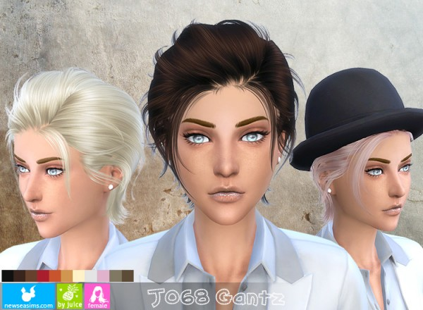 NewSea: J068 Gantz hairstyle for her for Sims 4