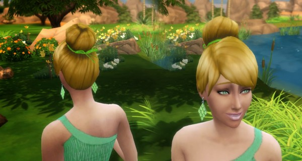 Mystufforigin: Tinkerbell hairstyle for Sims 4