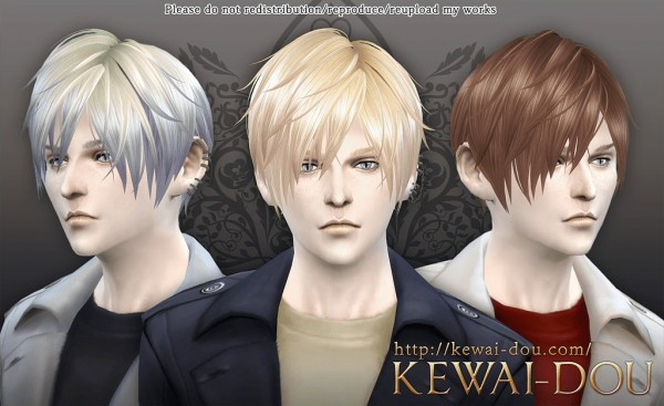KEWAI DOU: Contemporary hairstyle 3kan4on for Sims 4