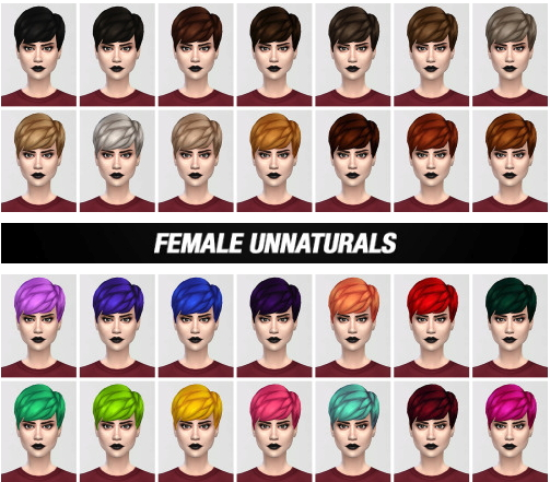 Lightsxxx: Straight bangs hairstyle recolored for Sims 4