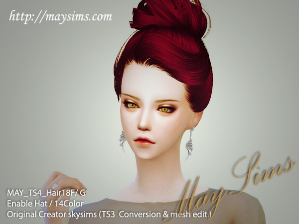 MAY Sims: May Hairstyle 18F converted from TS3 for Sims 4