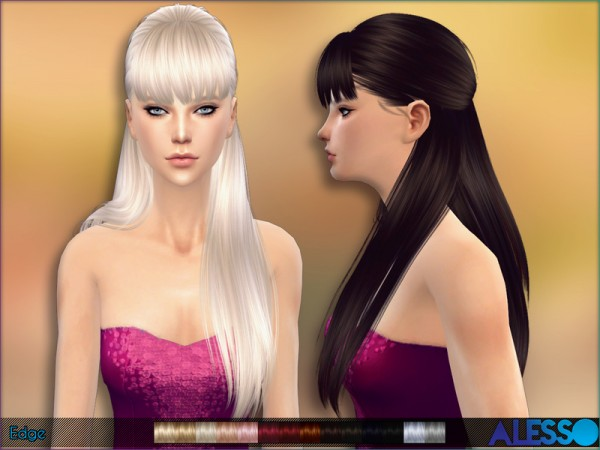 The Sims Resource: Edge   braided crown hairstyle by Alesso for Sims 4