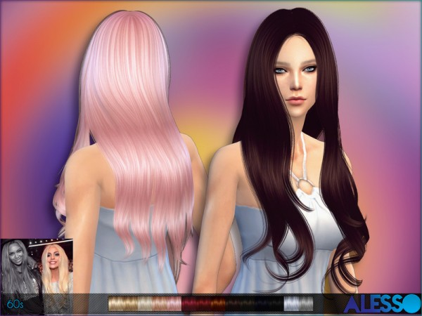 The Sims Resource: 60s hairstyle by Alesso for Sims 4