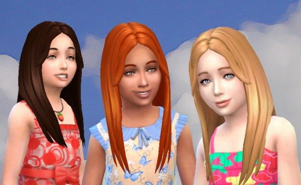 Mystufforigin: Single Hair for Girls for Sims 4