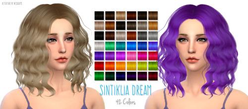 Nessa sims: Sintiklia`s Dream hairstyle retextured for Sims 4