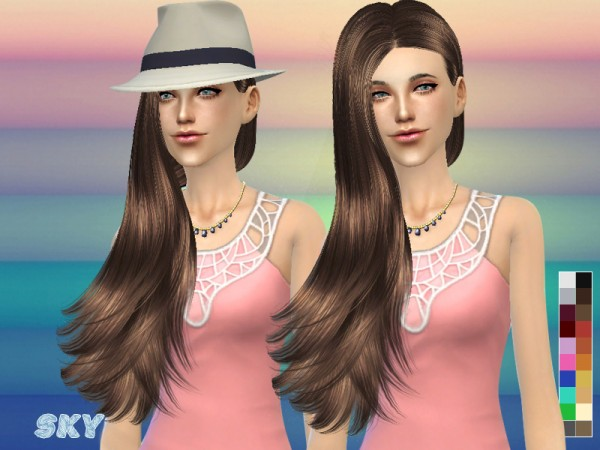 The Sims Resource: One Side Hairstyle 259 by Skysims for Sims 4