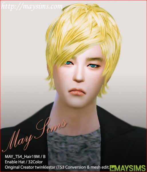 MAY Sims: May Hairstyle 19M/B for Sims 4