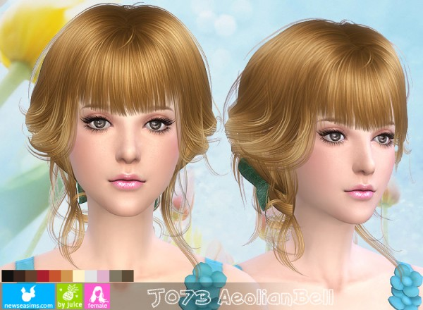 NewSea: J 073 AeolianBell hairstyle for Sims 4