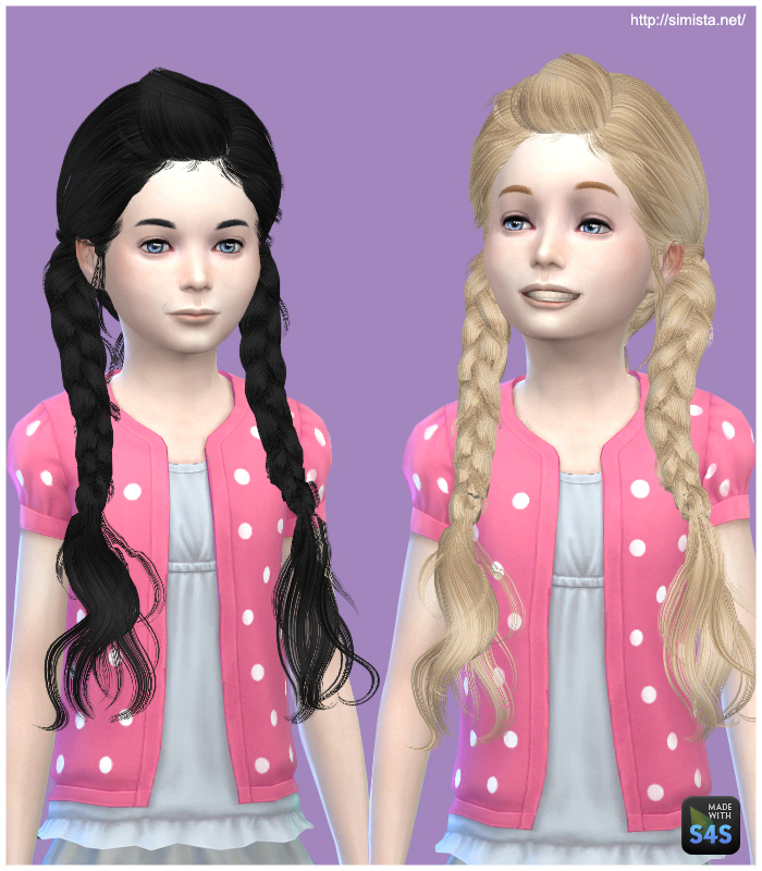 Sims 4 Hairstyles: Simista: MAY 03G Hairstyle Retextured