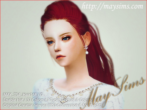MAY Sims: May Hairstyle 16F / G retextured for Sims 4