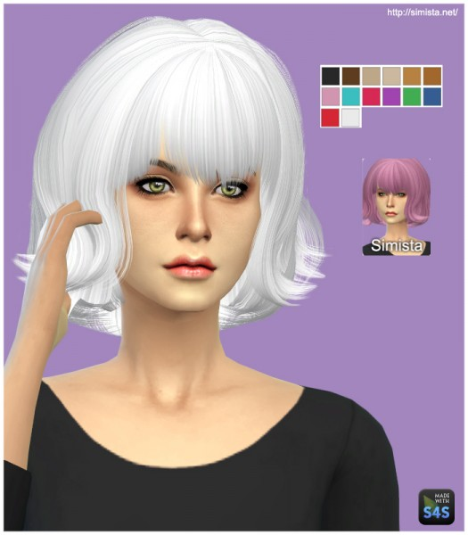 select a Website   : May Sims 01F hairstyle retextured for Sims 4