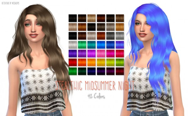 Nessa sims: 1000 Followers Gift Part 2 hairstyle retextured for Sims 4