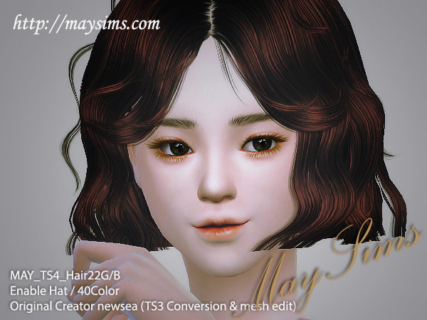 MAY Sims: MAY Hairstyle 22 G for Sims 4