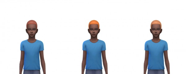 Busted Pixels: Short afro hairstyle for Sims 4