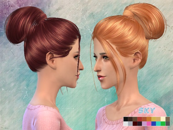 The Sims Resource: High tail hairstyle 111 by Skysims for Sims 4