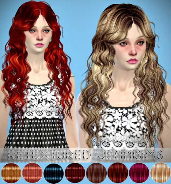 Jenni Sims: MaySims hairstyle retextured for Sims 4
