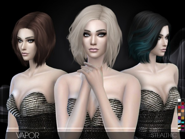 Stealthic: Vapor bob hairstyle for Sims 4