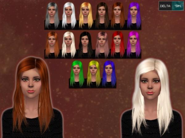 Delta Sim: Raonjena 029 hairstyle retextured for Sims 4