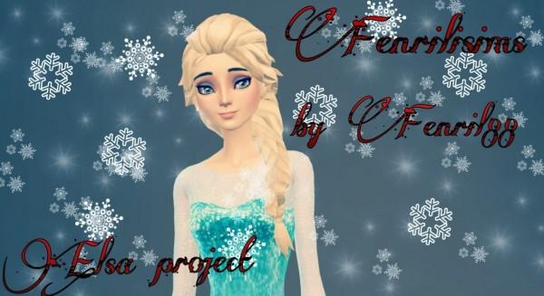 Fenrilsims: Elsa Disney Snow Queen hairstyle for Sims 4