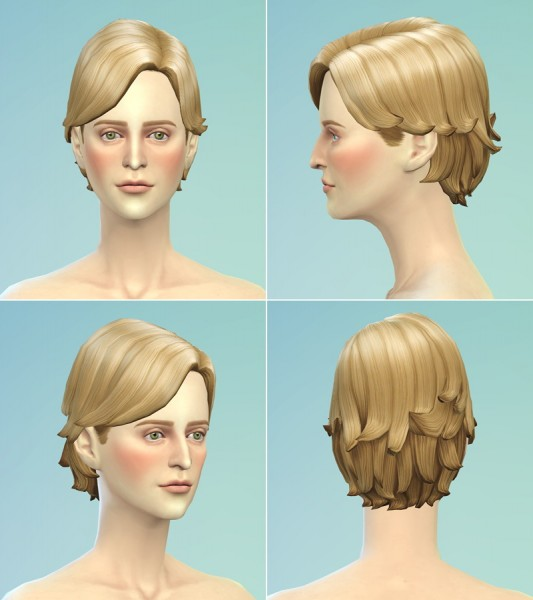 Rusty Nail: Surfer hairstyle retextured for Sims 4