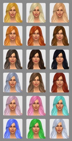 Nolan Sims: Skysims 229 hairstyle retextured for Sims 4