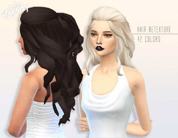 Miss Paraply: Kiara 24 Romantic hairstyle for Sims 4