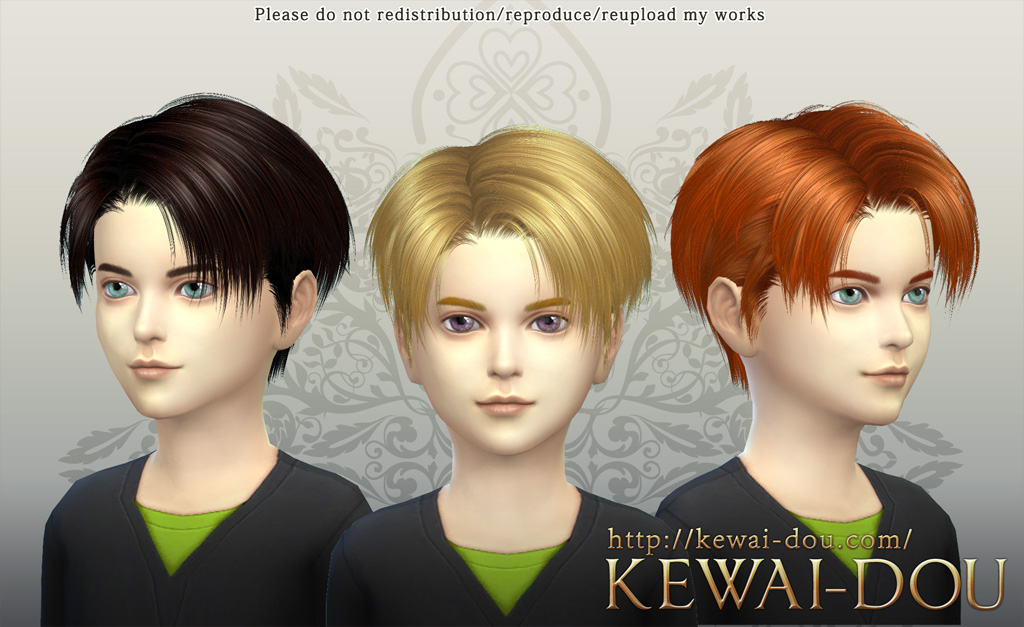 Sims 4 Hairs Kewai Dou Levi Hairstyle For Boys