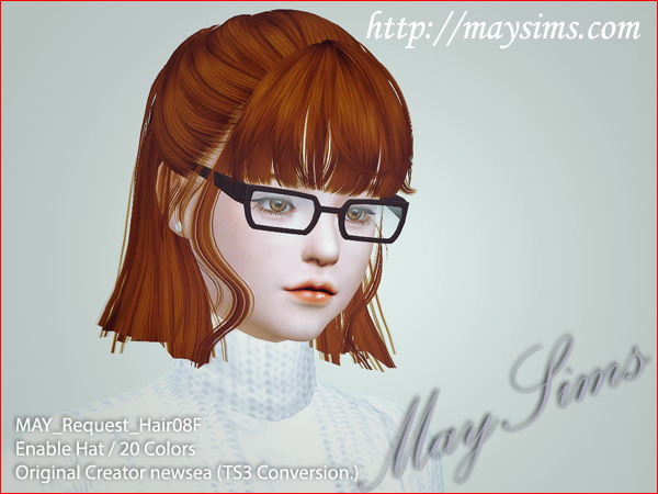 MAY Sims: May Request Hairstyle 08F for Sims 4