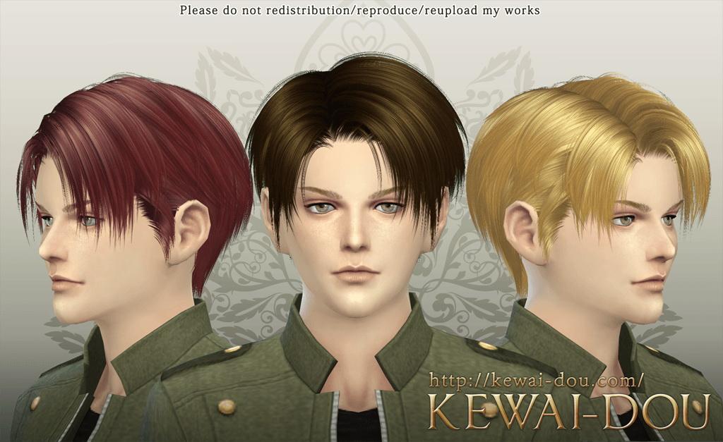sims 4 hairs kewaidou levi hairstyle