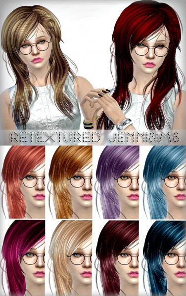 Java Sims: Newsea`s Kiss Jasmine hairstyle retextured without flower for Sims 4