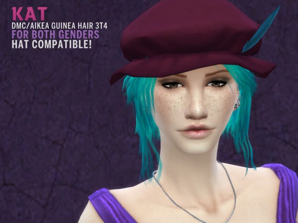 The path of never more: 2500 followers gift Aikea Guinea hairstyle converted from TS 2 to TS 4 for Sims 4
