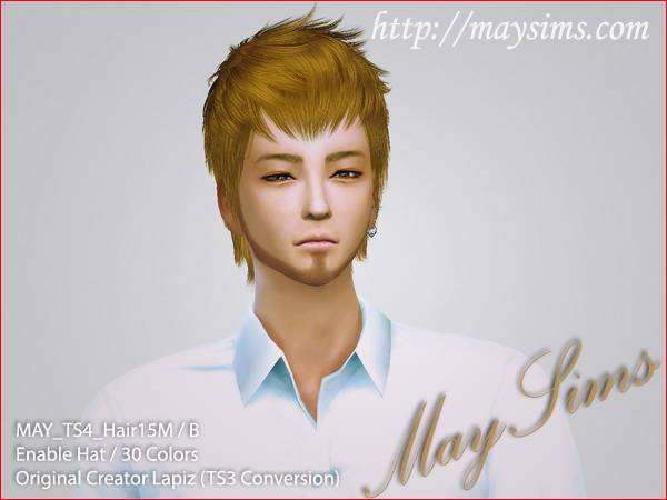 MAY Sims: May Hairstyle 15M / B for Sims 4