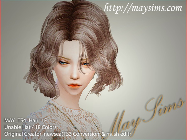 MAY Sims: May Hairstyle11F / G for Sims 4