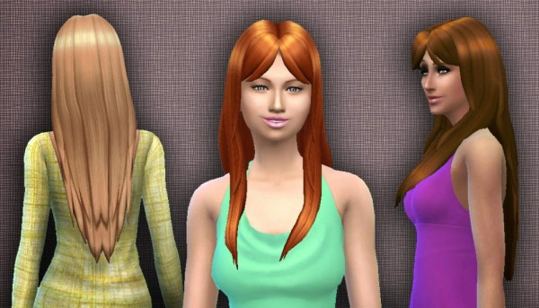 Mystufforigin: Smooth Hairstyle for Sims 4