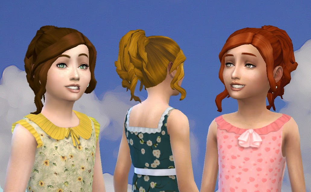 Sims 4 Hairs Mystufforigin Curly Ponytail For Girls