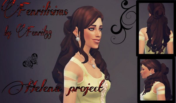 Fenrilsims: Helena hairstyle for Sims 4