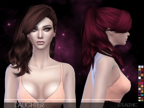 Stealthic: Daughter hairstyle for Sims 4